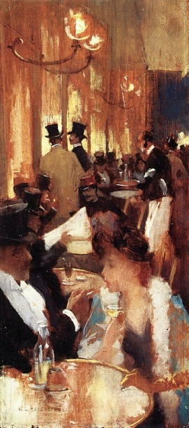 Willard Metcalf, Au Cafe, 1888