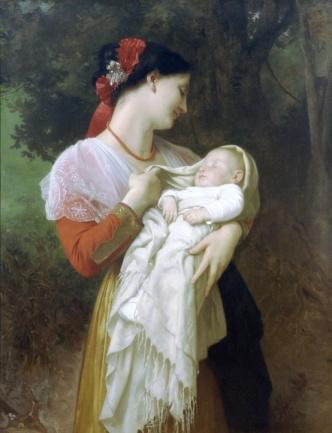 William-Adolphe Bouguereau, Maternal Admiration, 1869