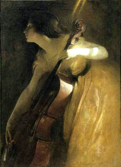 John White Alexander, The Cellist, 1898