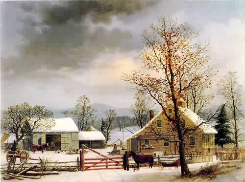 George Henry Durrie, New England Winter Scene, 1858